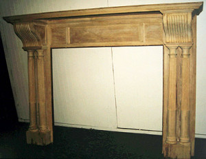 Fireplace Mantel Stripped Oak