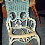 Wicker Cane Rocking Chair Before